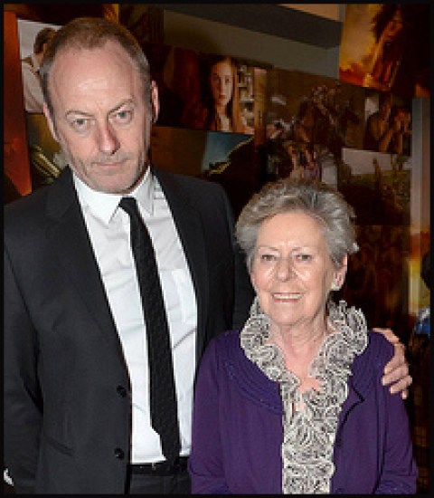 Liam Cunningham and his mother, Kathleen Cunningham