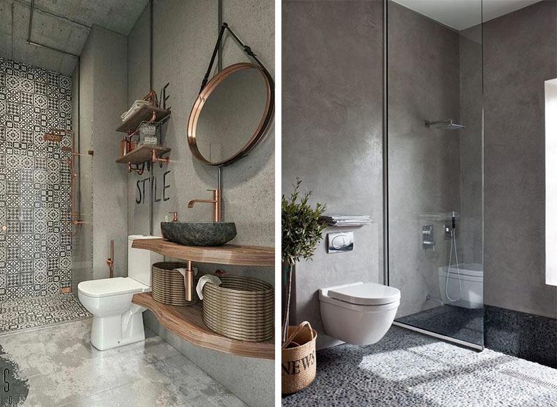 piso banheiros pedra cinza