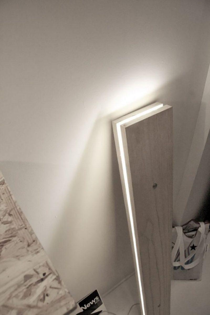 luminaria tubo vertical minimalista