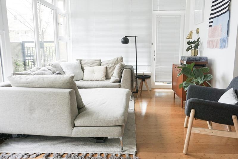 apartamento pequeno decorado sala