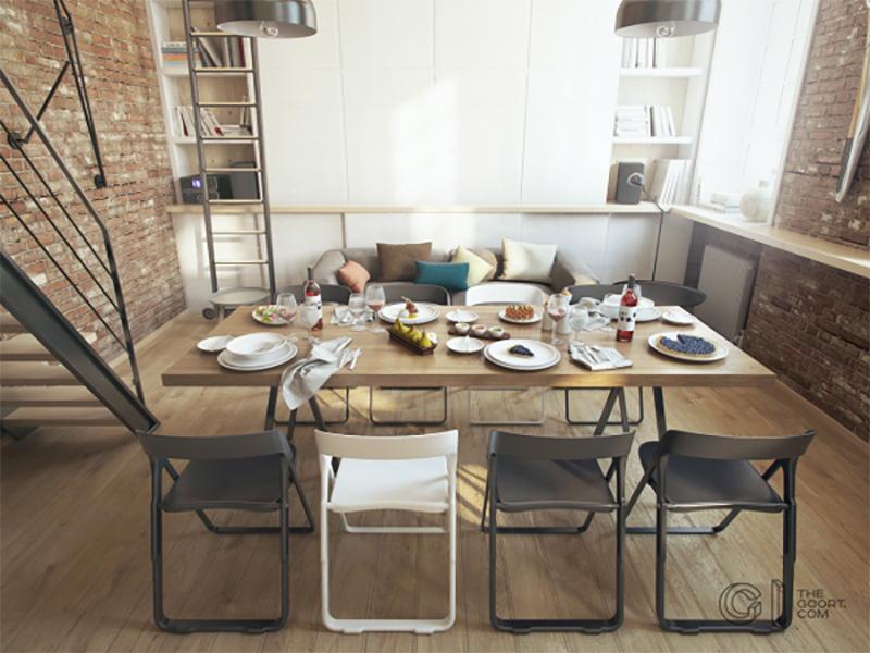 sala de jantar apartamento pequeno