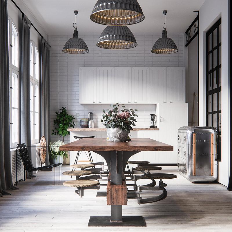 cozinha industrial mesa