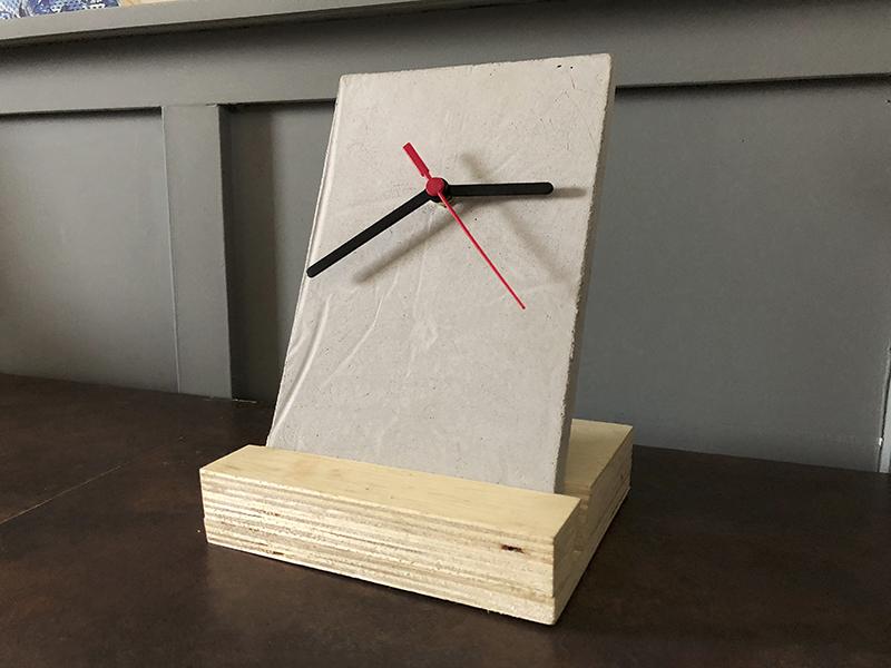 relógio de concreto passo a passo
