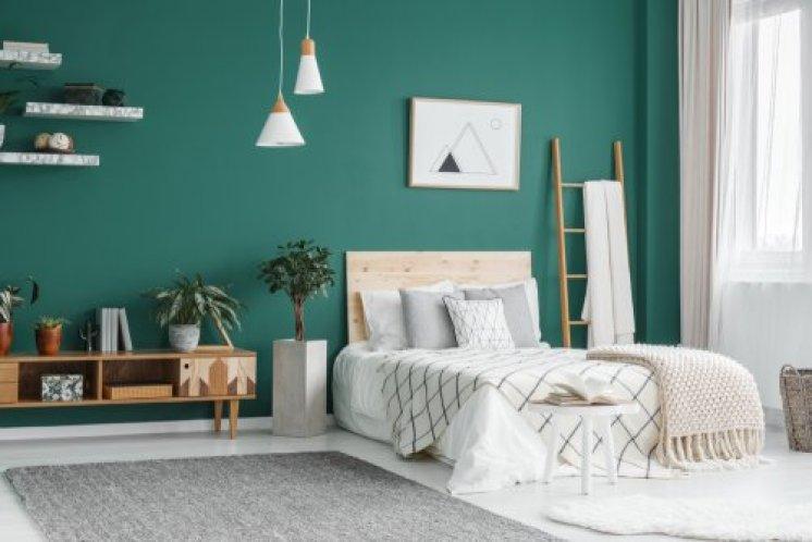 Cores de tinta para quarto: verde