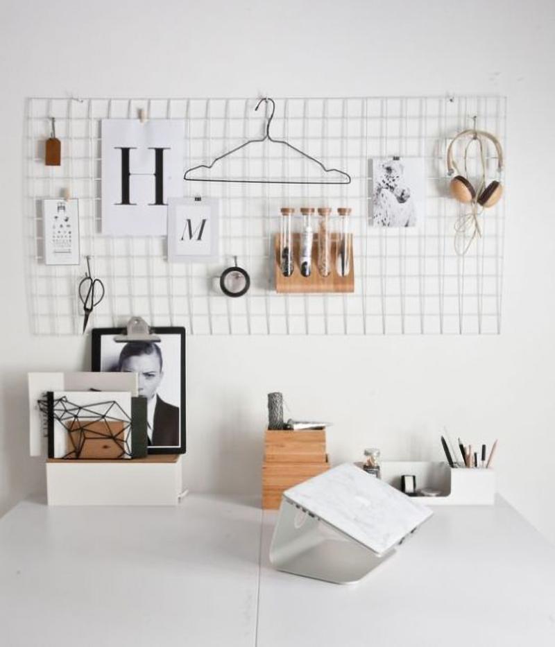 Tela aramada como organizar e painel semântico no escritório