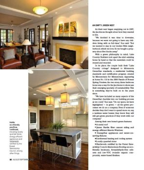 Lake Home Magazine Interior Page