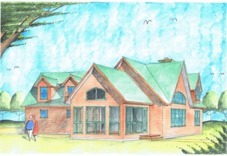 Capechi Cabin Full Color Sketch