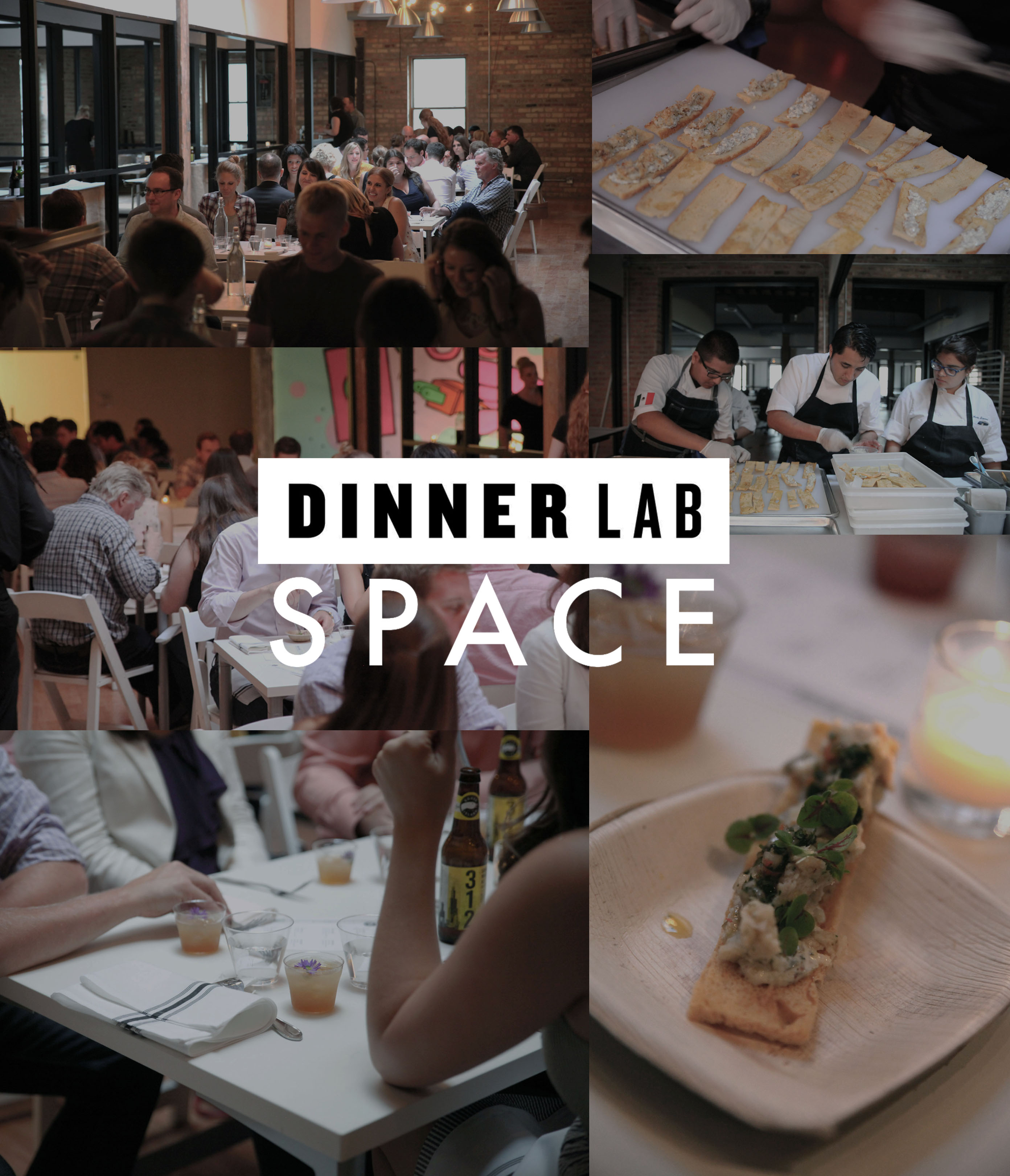 SPACE & DinnerLab Collage logo
