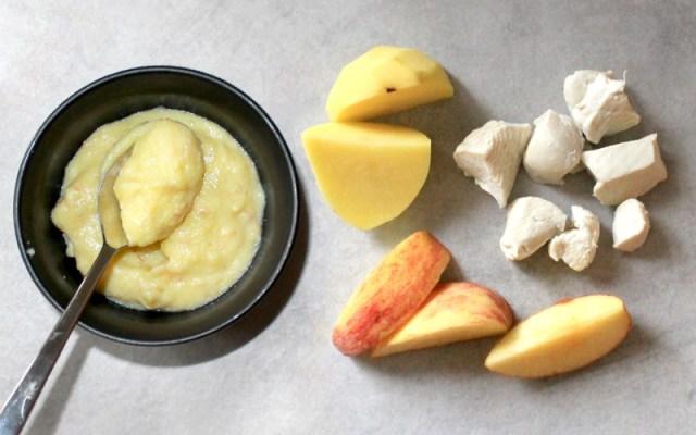 babyhapje kip appel aardappel puree