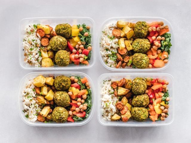 vegan meal prep lunch