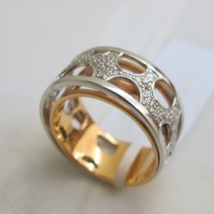 Ring Bicolor mit Brillanten