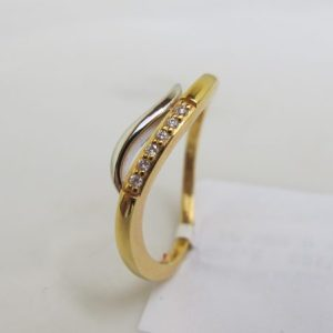 Ring Bicolor mit Brillant