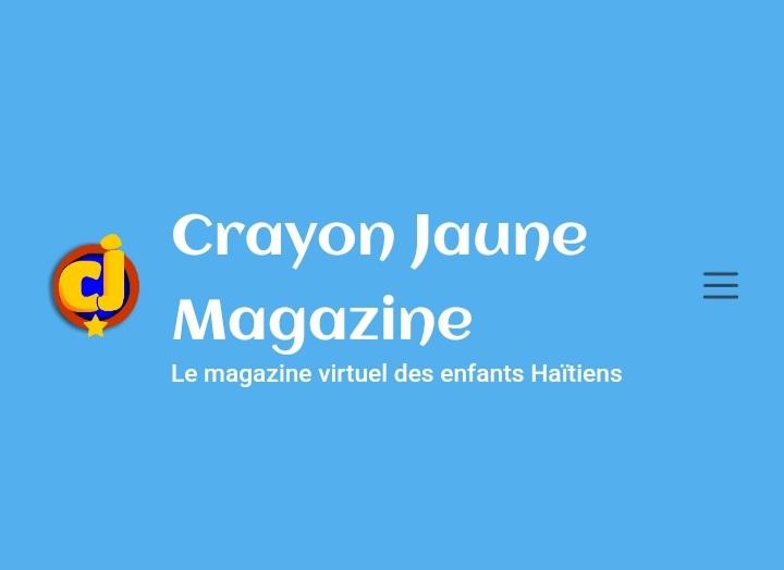 Crayon Jaune : le premier magazine numérique haïtien pour enfants et adolescents