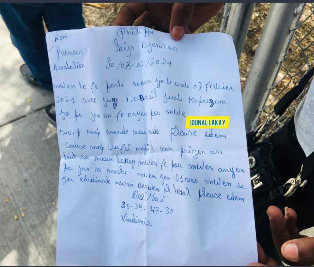 Hija Djenicka Philippe, arrêtée depuis Février dernier, exige sa libération