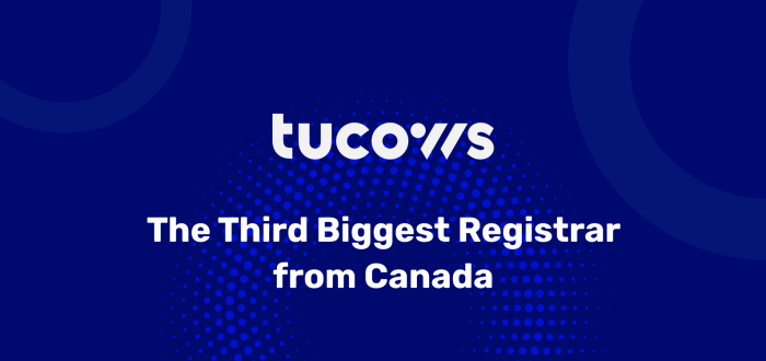 Tucows is the third-biggest domain registrar in the world.