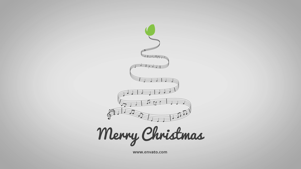 minimal christmas song logo after effects template