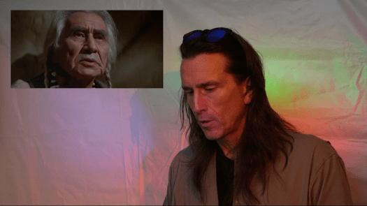 Sharing the screen with Chief Dan George is an honor for Dan Kelly, Shri Fugi Spilt