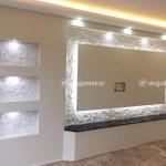 Tv Unite Arkasi Dogal Tas Kaplama Salon Dekorasyon 21