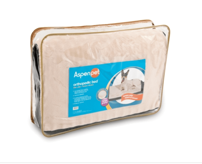 Aspen Pet Orthopedic Plush/Suede Bed