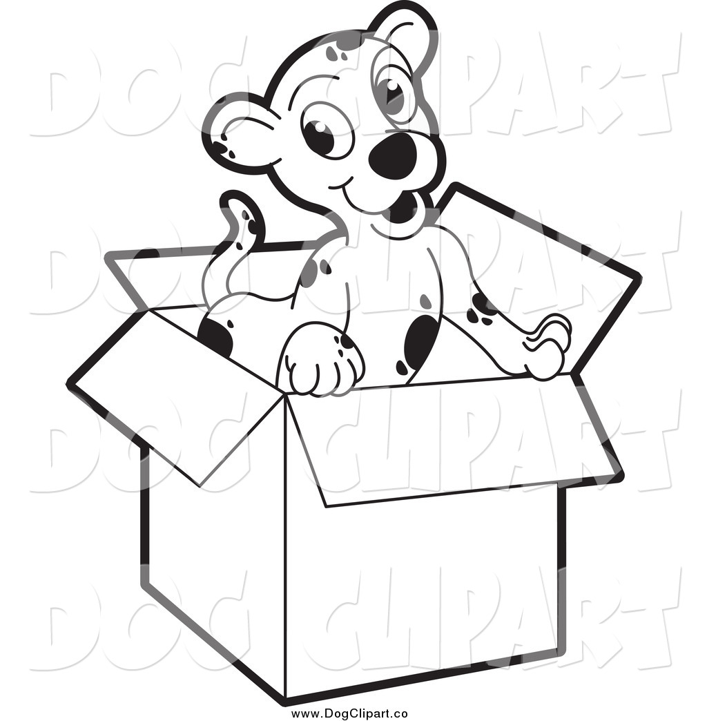 Larger Preview Vector Clip Art Of A Black And White Puppy