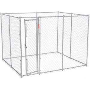 Lucky Dog Chain Link Kennel Metal Dog Crate