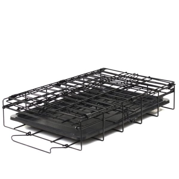 Paws & Pals Double-Door Wire Dog Crate with Tray