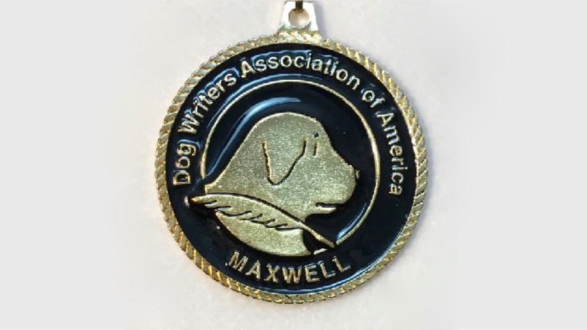 Maxwell Award Medallion for 2016 book on health