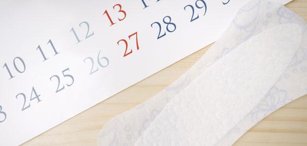 生理用ナプキンとカレンダーの画像