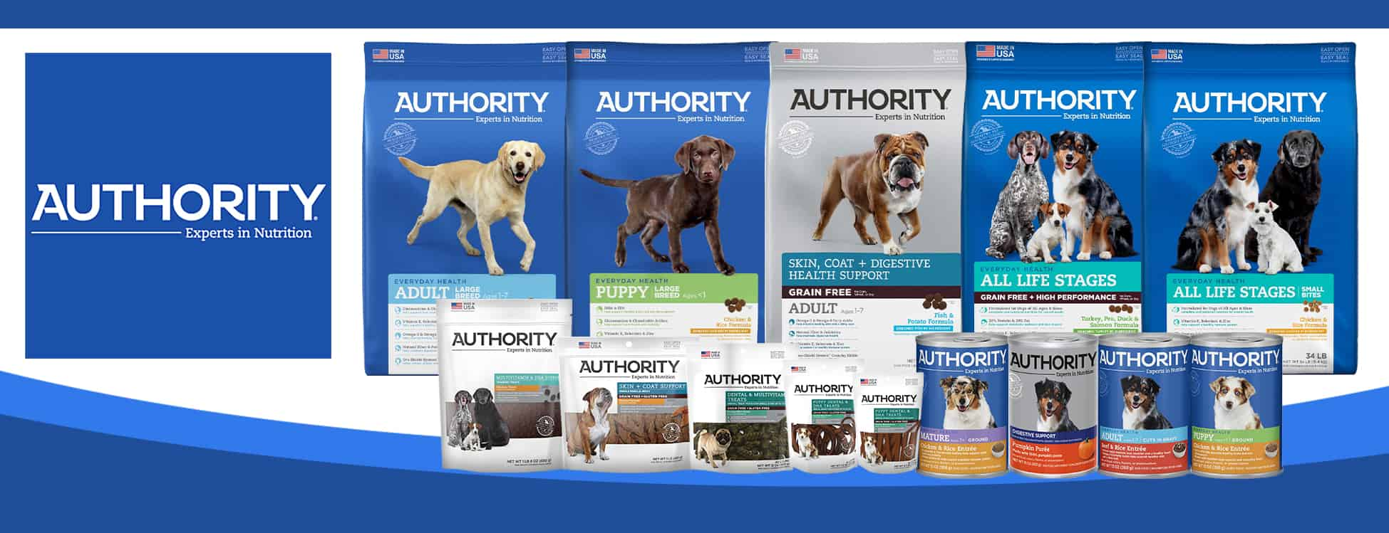 Authority Dog Foods Banner
