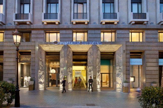 Fachada del hotel. Foto: Mandarin Oriental Barcelona, George Apostolidis.