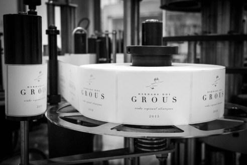 Sala de etiquetado de Herdade dos Grous.