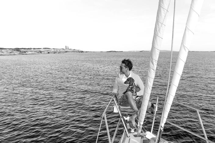 Navegando con Eros en Ibiza.