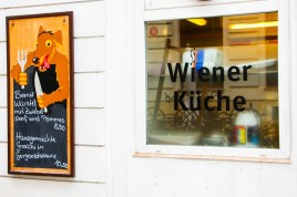 Típico restaurante de cocina vienesa.