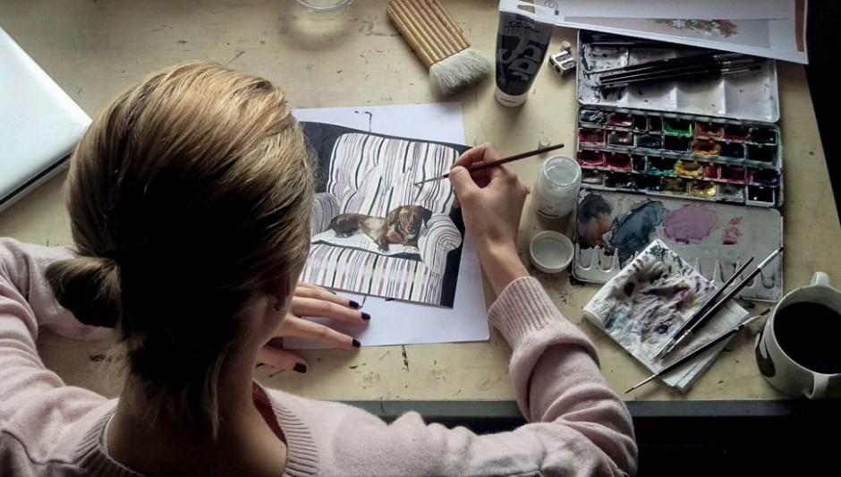 Lulu Figueroa Domecq en su estudio.