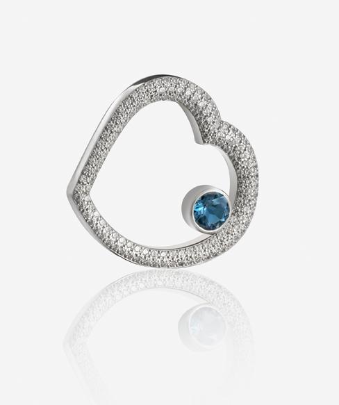 Broche de 130 diamantes naturales y un diamante Amity (2,35 Q, 32.000 €).