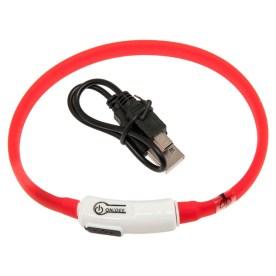 Collar de silicona con LED y carga USB, 12€.