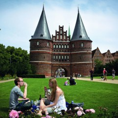 Copyright: Photo: Gordon Welters/New York Times. The Holsten Gate was part of Lübeck's defenses in its days as a city-state run by wealthy merchants. TASCHEN.
