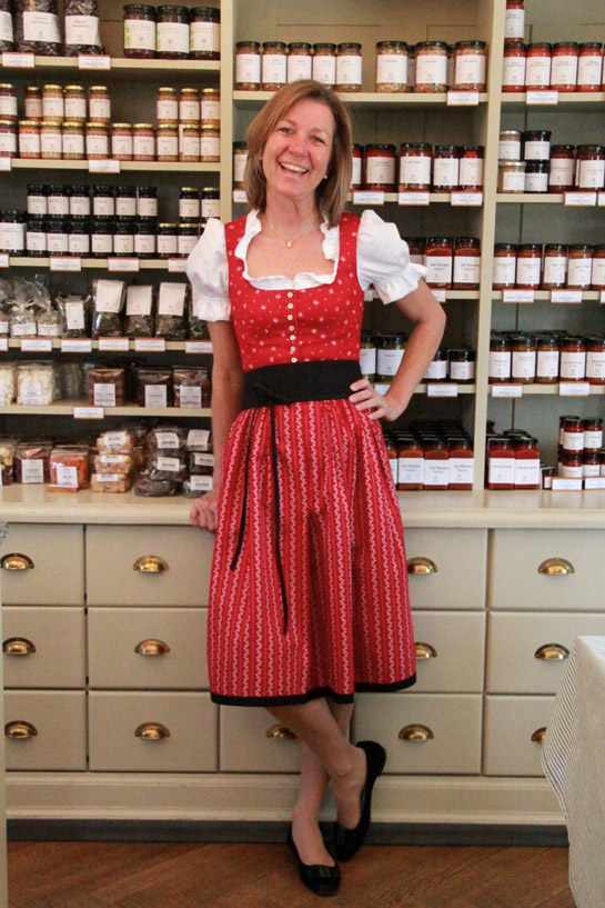 Barbara Schweitzer en la tienda de Gössl.