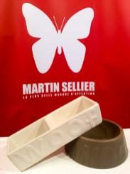 Bowls de cerámica de MARTIN SELLIER, higiénicos, agradables al tacto y mantienen el agua fresca.