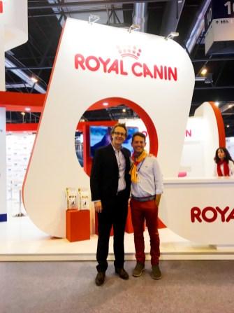 Con François-Regis Ponçon, Dir. General de ROYAL CANIN.