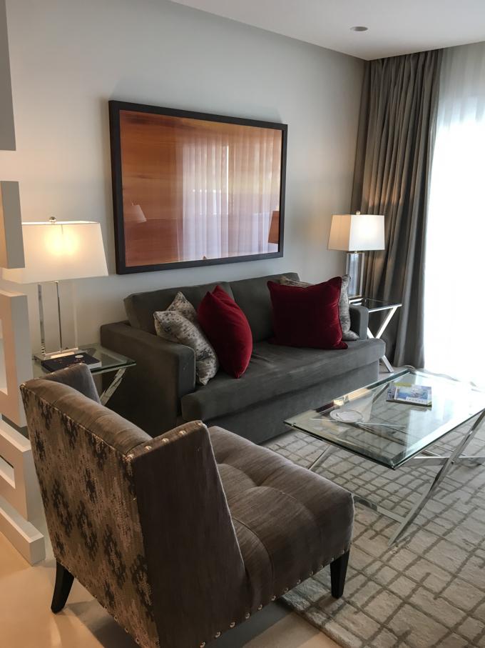 El salón de nuestra suite.