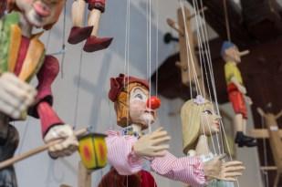 Marionetas hechas a mano en Galerie Michael.