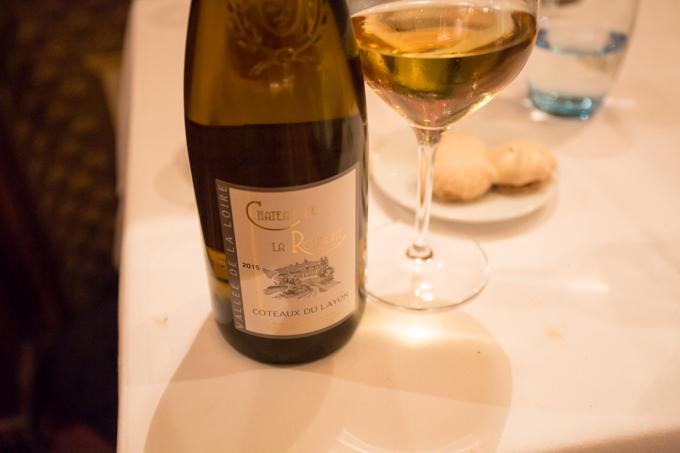 Para el postre, Chateau de la Roulerie, un vino blanco dulce del valle del Loira.