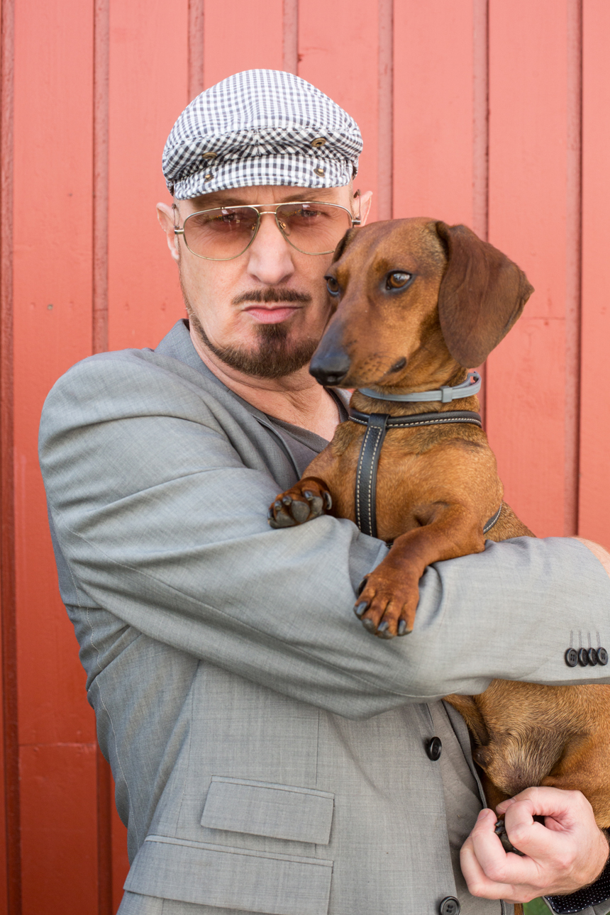 Eros con Vigdis Johnsen de Pet Shop Girls. Fotos: David Suárez Fernández.