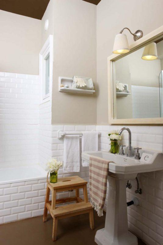 Baño sobrios, elegantes y frescos.