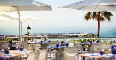 Restaurante Sea Grill, en su terraza pueden acceder los perros que se alojan.