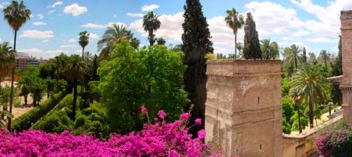 Vistas a los jardines del Alcázar desde el Palacio de Tenório.