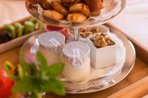 El desayuno es casero y es presentado con mimo.