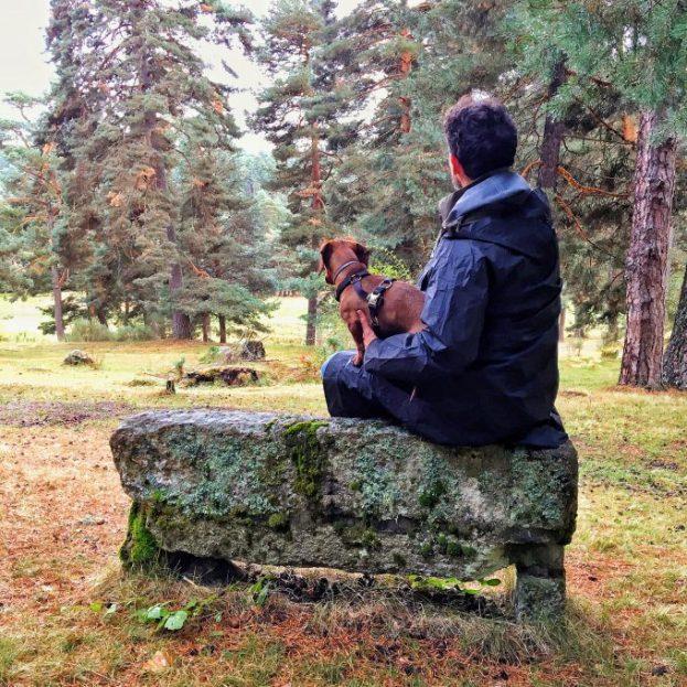 Contemplando la Sierra de Gredos después de la lluvia.
