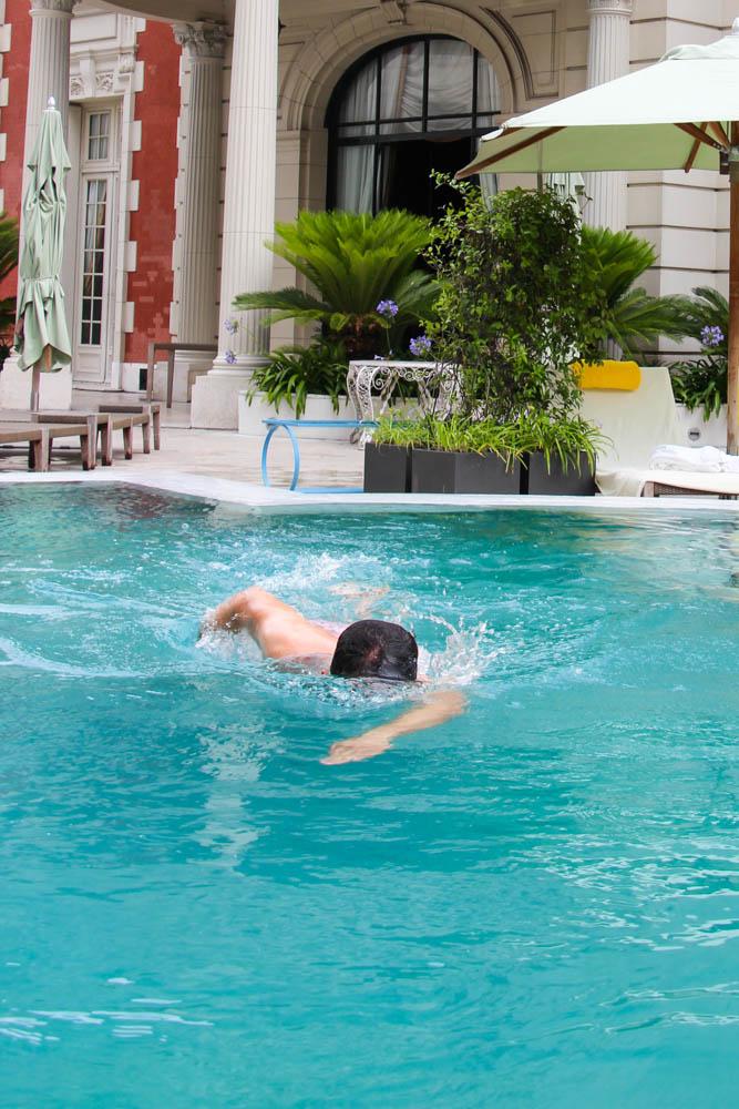 Nada como nadar mucho antes de comer.